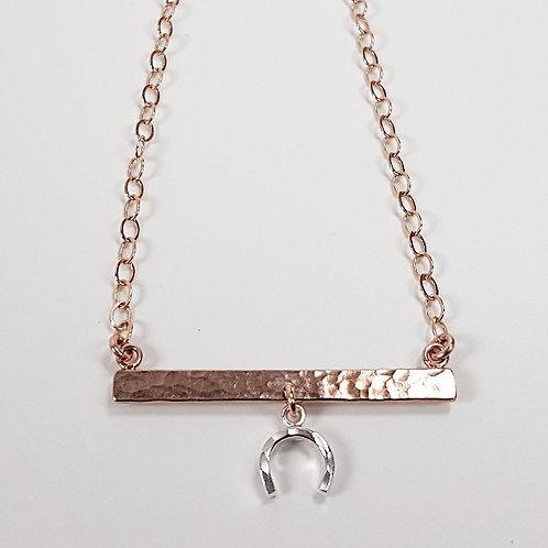 Rose gold and silver Horseshoe pendant