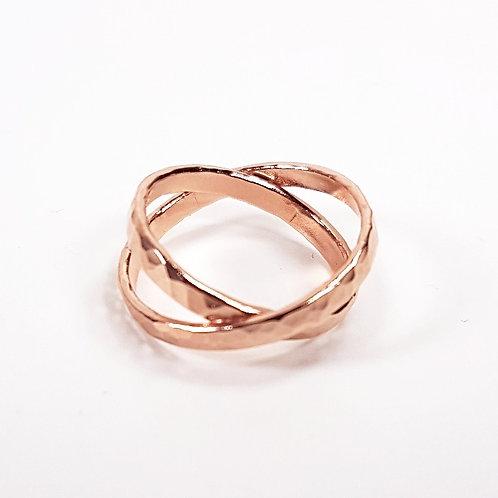 Rose gold Crossing ring