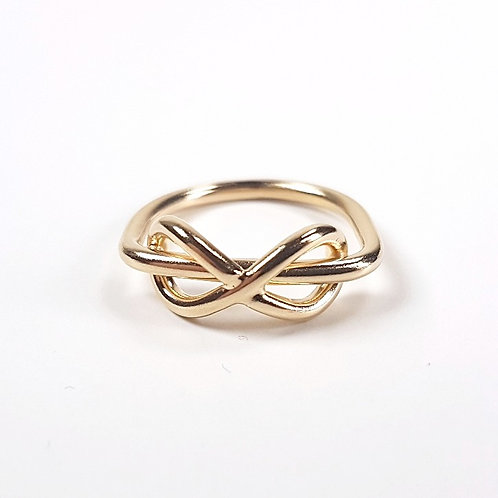 Gold ring Infinity