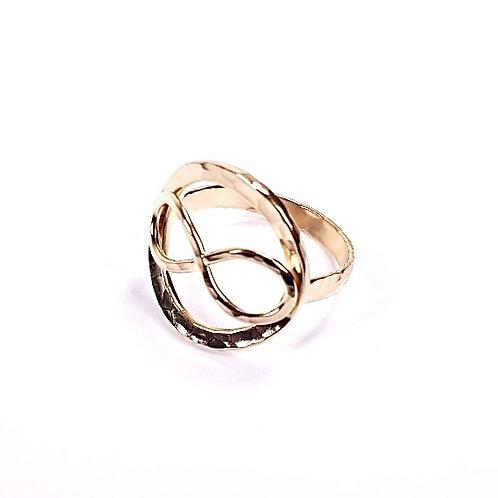 Gold ring Infinity Circle