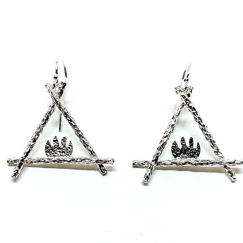 Large elegant sterling silver earrings