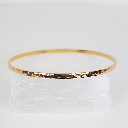 Gold Circle of life bangle