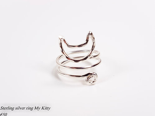 Sterling silver ring My Kitty