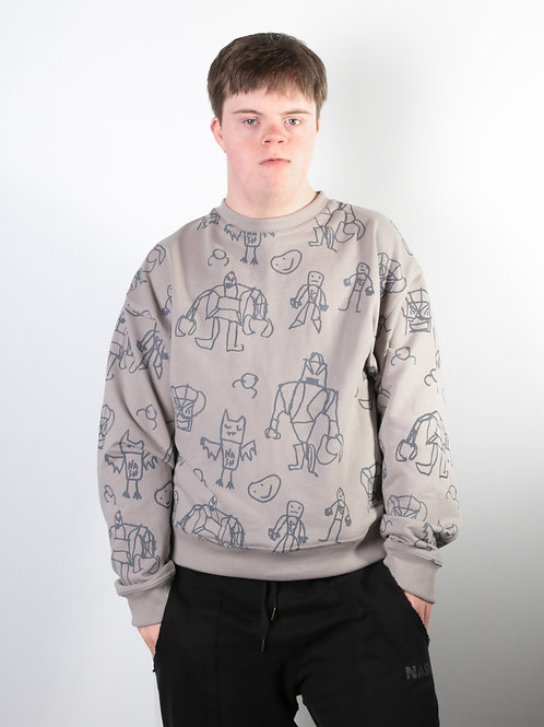 Trafford's Illustrations Repeat Sweatshirt