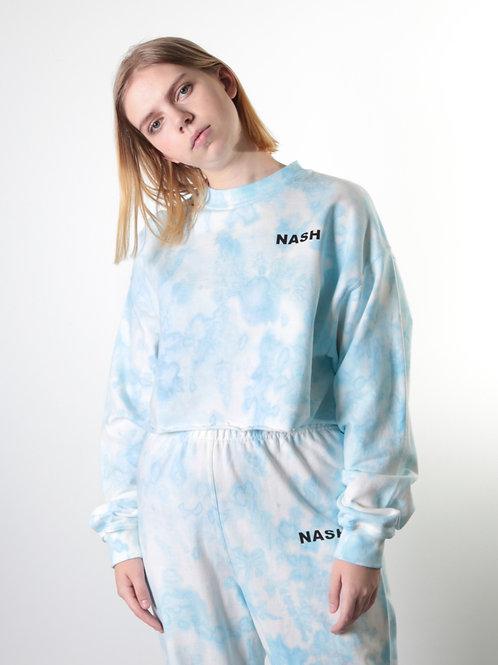 Blue Iris Cropped Sweatshirt