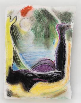 Pastel study for Nereid, 2020