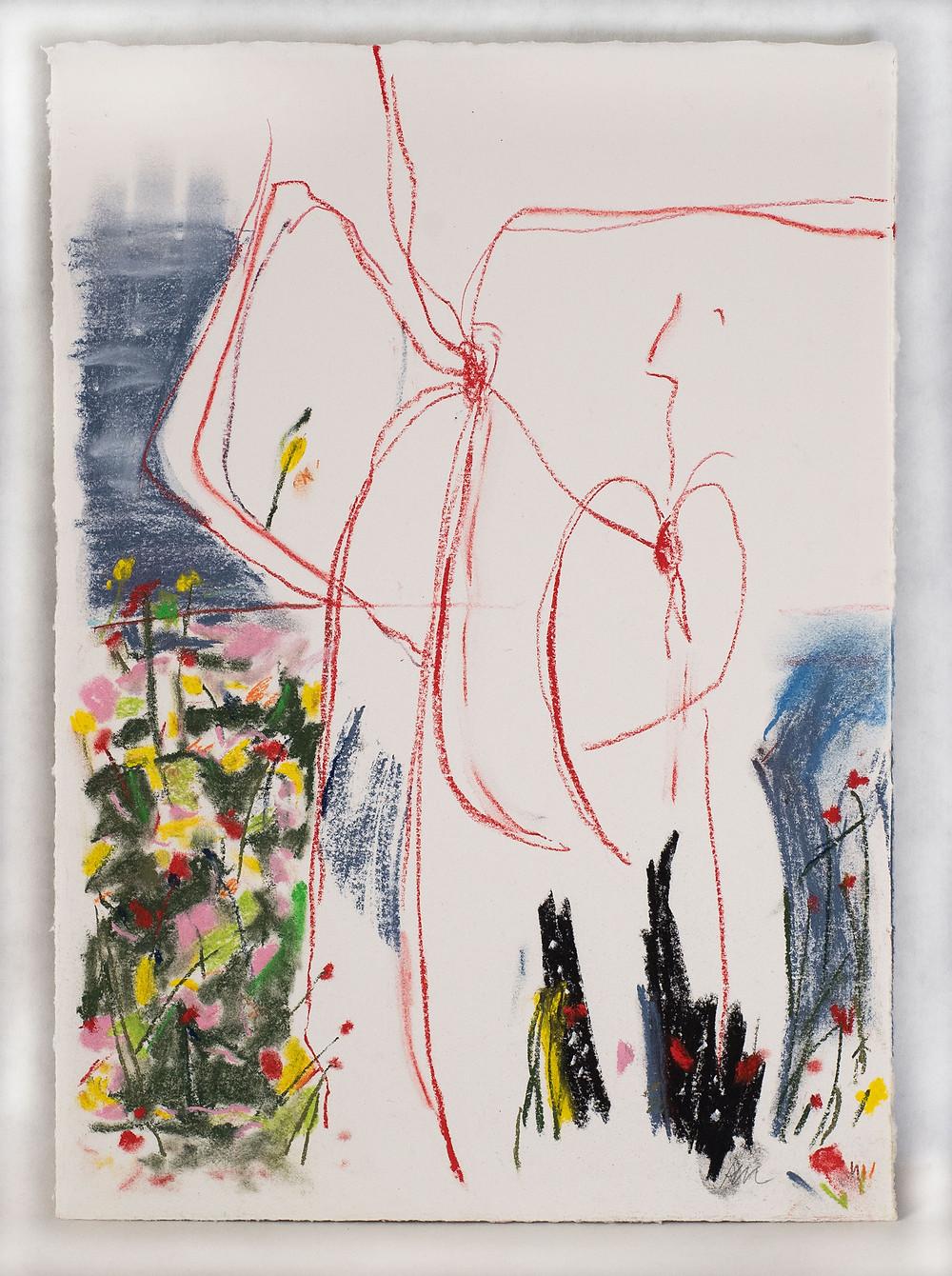 pastel on paper, 35cm x 25cm (13.78 in. x 9.84 in.)