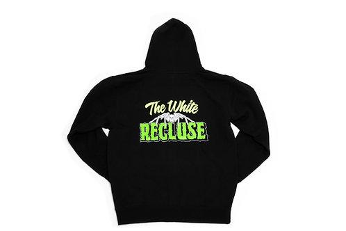 White Recluse Zip-Up hoodie (Black/Green)