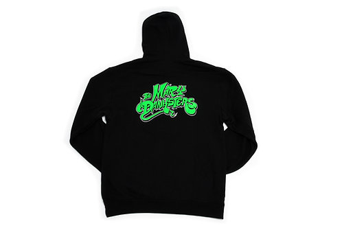 TMD Hoodie With White Recluse Badge (Black/Green)