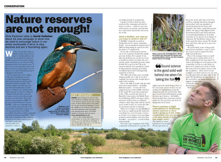 Chris Packham interview in Birdwatch: July 2018