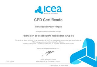 CPD Certificado - ICEA