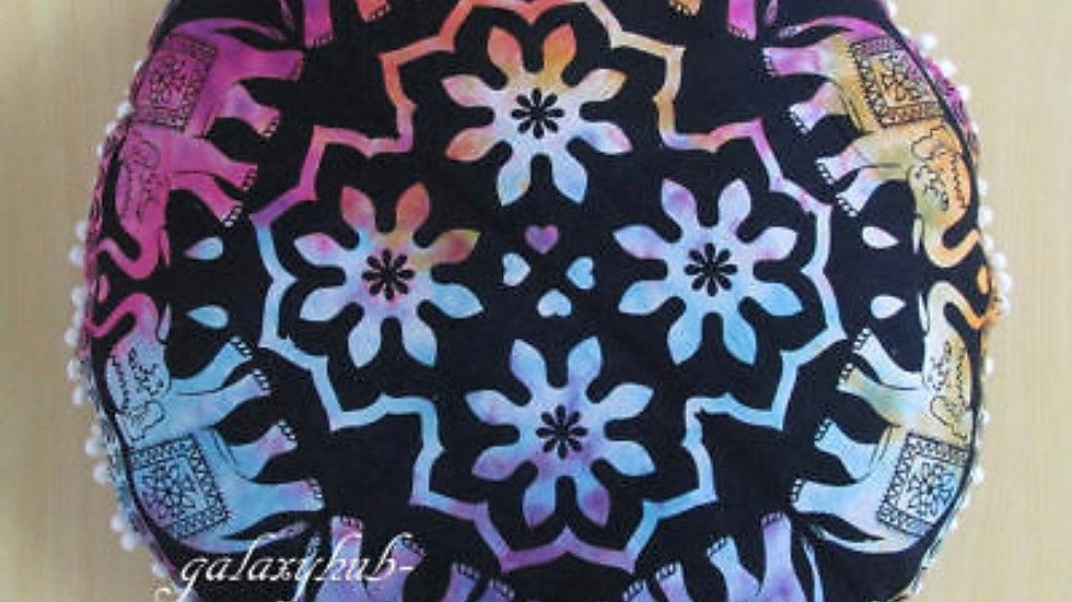 "*PRE- ORDER* 24"" Round Elephant Mandala Tie Dye Floor Decorative Cushion Pillow"