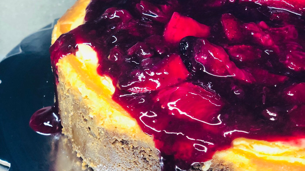 Berry Compote New York Cheesecake