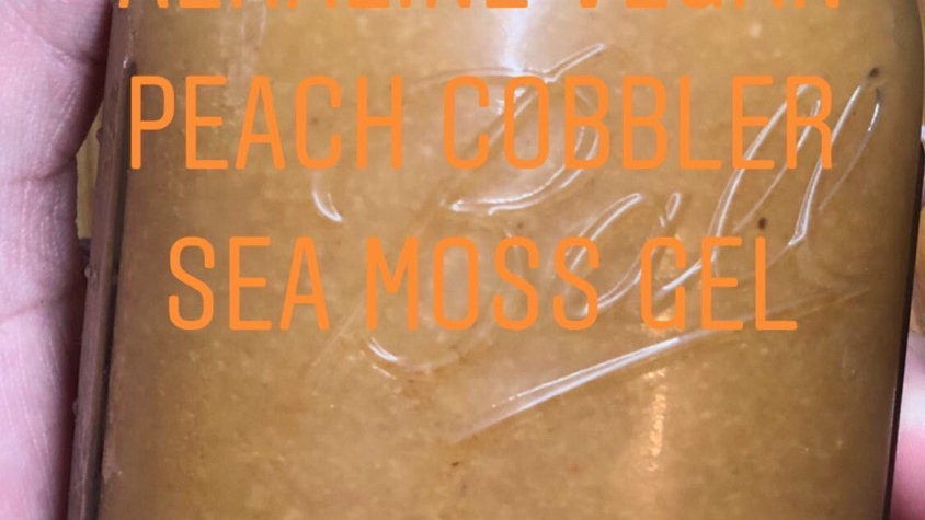 16oz Alkaline Peach Cobbler Sea Moss