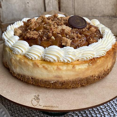 Cheesecake con manzana caramelizada