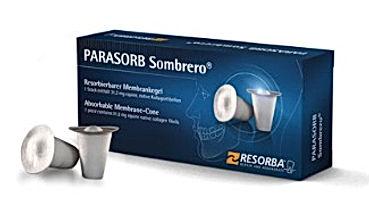 Parasorb Sombrero, kolageny w stomatologii, kolagen z membraną, resorba sombrero