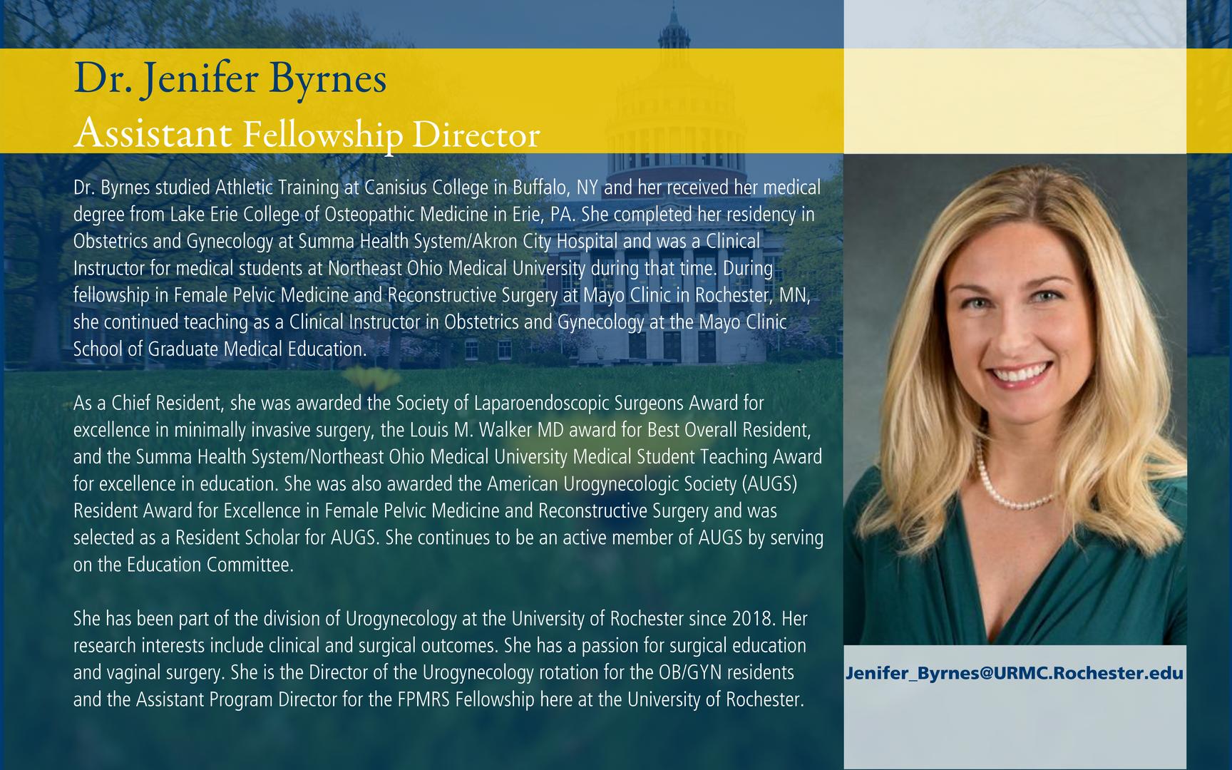Dr. Jenifer Byrnes