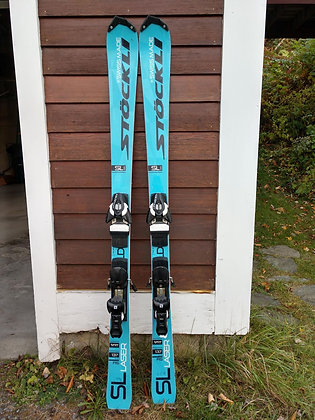 Stockli Laser SL Race skis with Salomon Bindings- 137cm