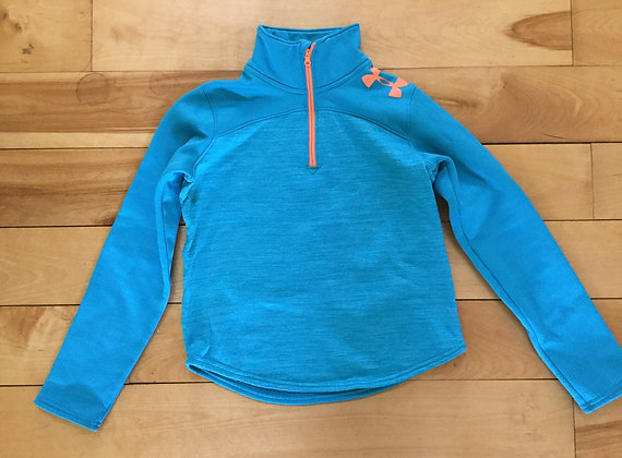 Under Armour Fleece Layer - Youth Small, turquoise