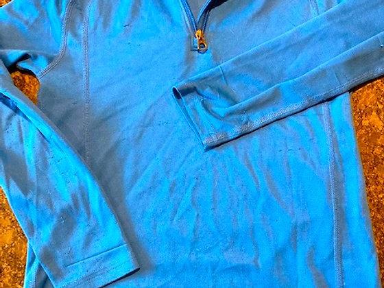 Lands' End kids long underwear set, blue
