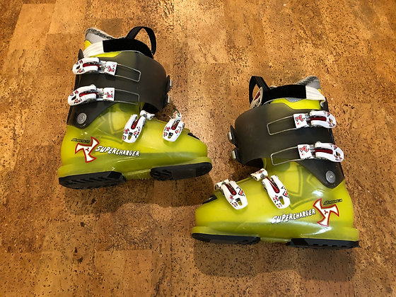 Nordica Supercharger Youth Boots size 22.5, green