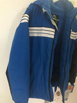 Blue 11/12 kids  waterproof jacket with hood