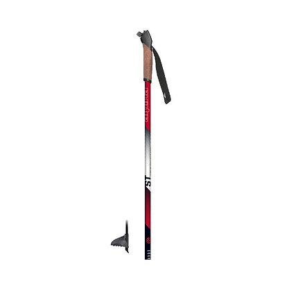 Alpina Tour Pole PLUS w/cork grip.  RED