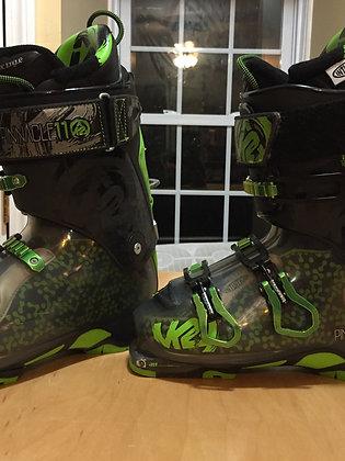 K2 Pinnacle 11 AT Ski Boot - Size 25.5 - Black/Green