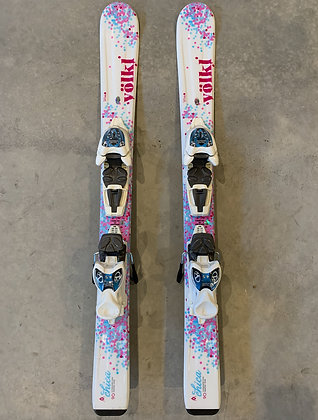 Volkl Chica 90cm kids skis with Marker bindings