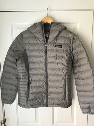 Patagonia Down Sweater Hoody Jacket - Women's, Size Small, Gray