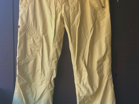 Marmot Women's Snow Pants, Pastel canary yellow, Size S.