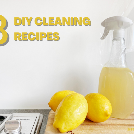3 DIY Cleaning Recipes For a Zero-Waste Home