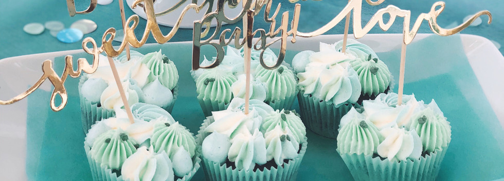 Babyshower Boy - Mint - WOLKES CUPCAKES