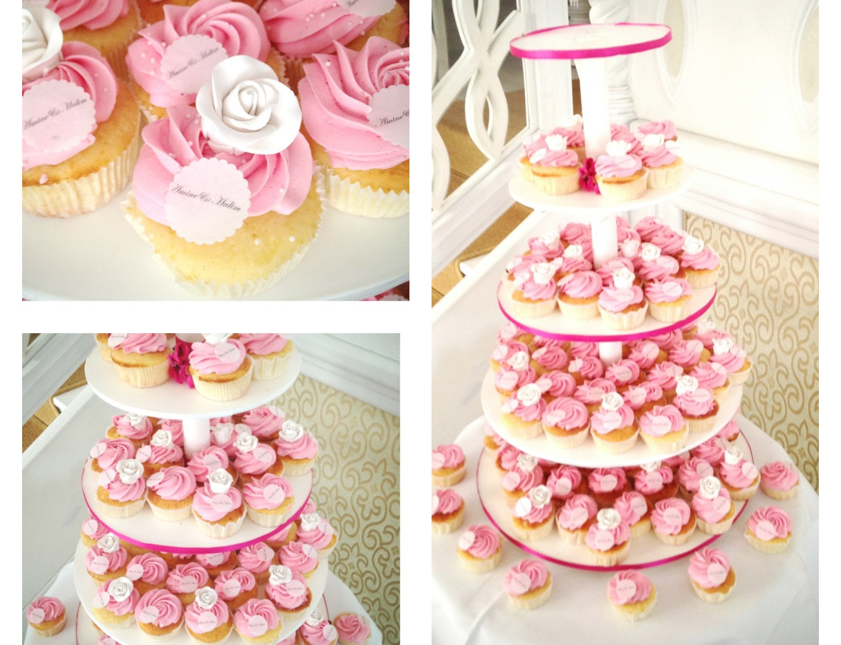 PINK_Rose_Wedding_Cupcakes_WOLKES CUPCAKES