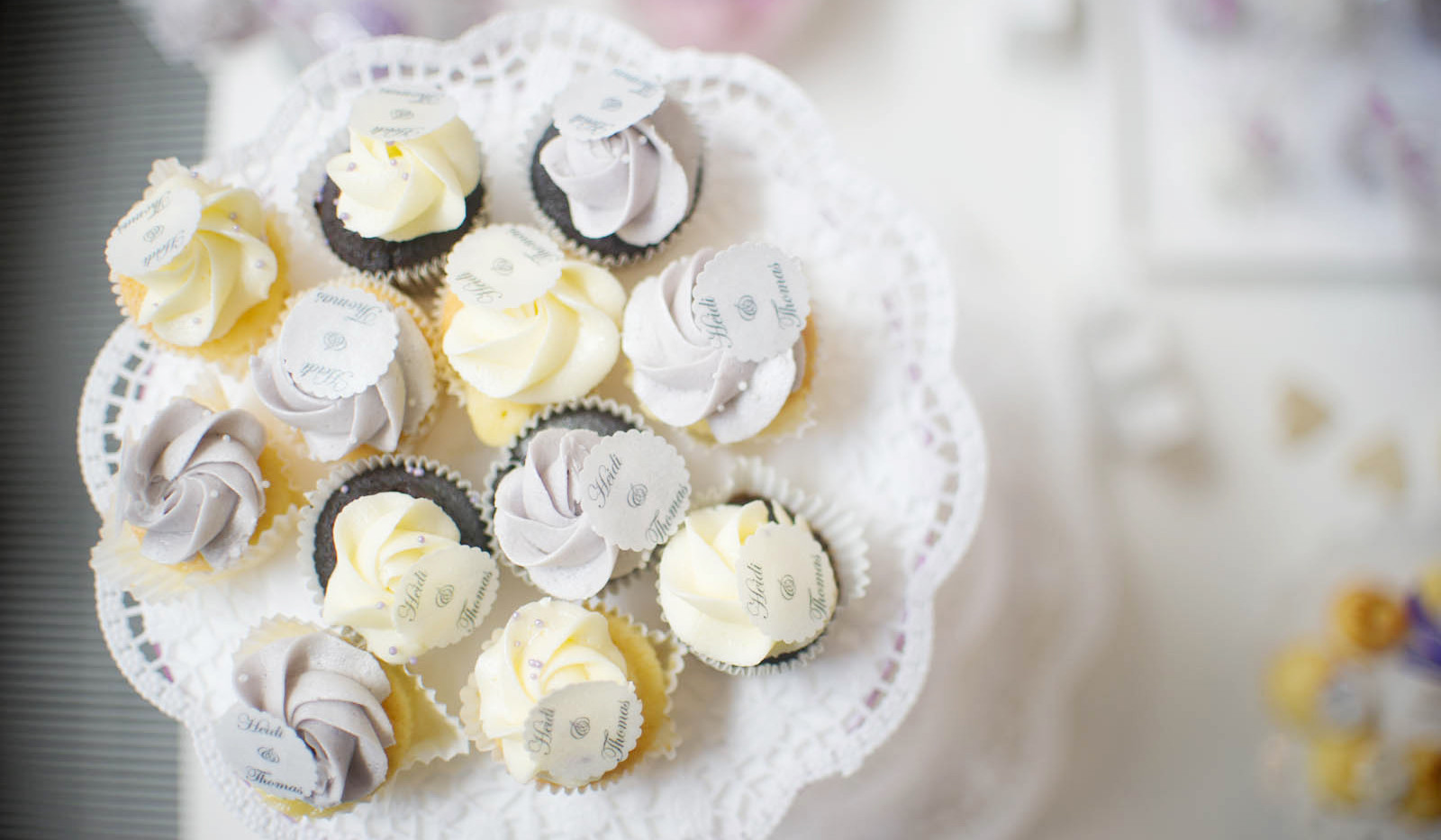 Mini Cupcakes Wedding pastell WOLKES CUPCAKES