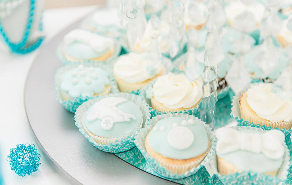 Tiffany Blue Cupcakes - Babyshower - WOLKES CUPCAKES