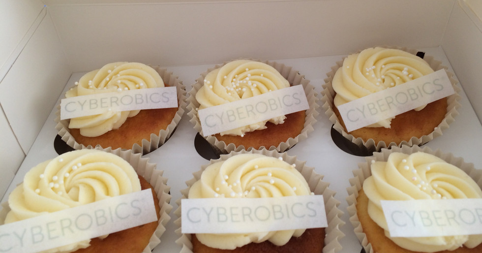 Cyberobics Cupcakes by WOLKES CUPCAKES