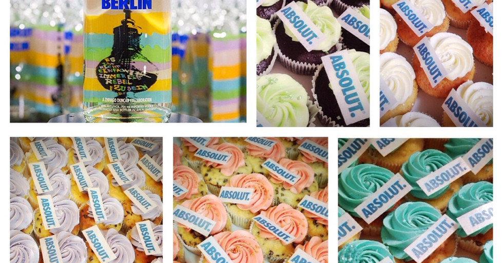 Absolut Vodka Cupcakes by WOLKES CUPCAKES