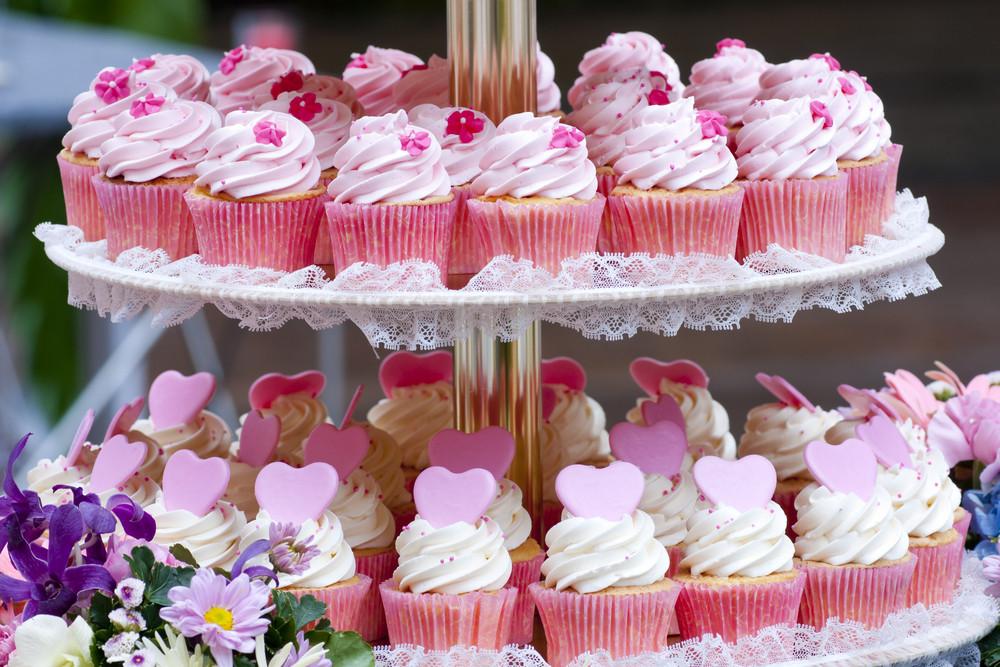 Pink Wedding Cupcakes WOLKES CUPCAKES