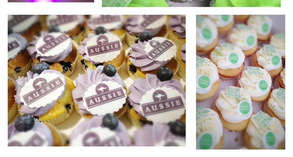 L'Oreal & Aussie Cupcakes by WOLKES CUPCAKES