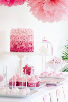 Pink Candybar Babyshower - Baby Girl - WOLKES CUPCAKES