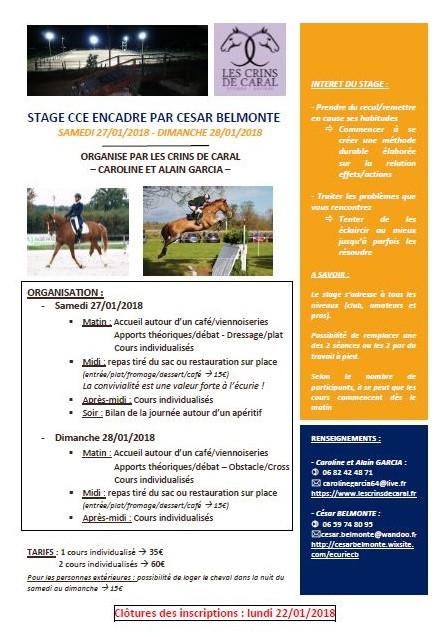 stage complet César Belmonte à Les Crins de Caral