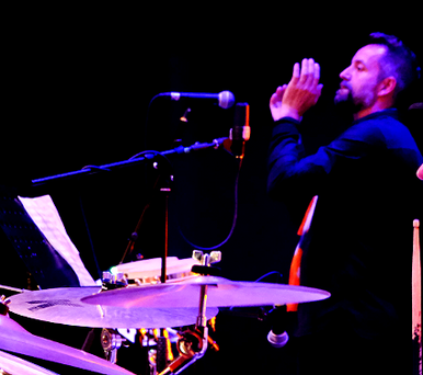 Kevin Wilton on Percussion