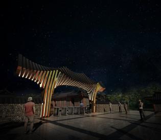 지방건축물 야간경관 cg