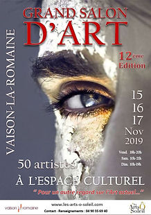 Affiche Grand Salon d'Art Vaison 2019.JP