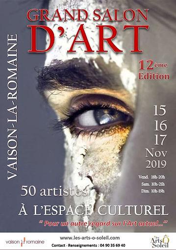 Affiche Grand Salon d'Art Vaison 2019.JP