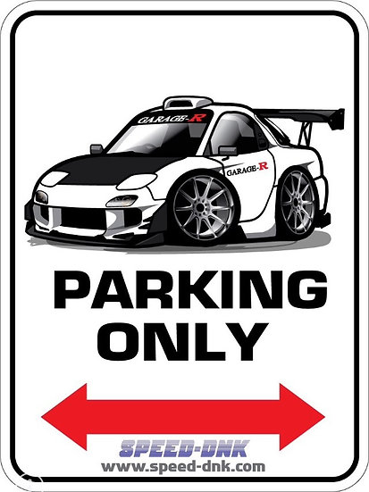 RX-7 FD3S  Original Parking plate