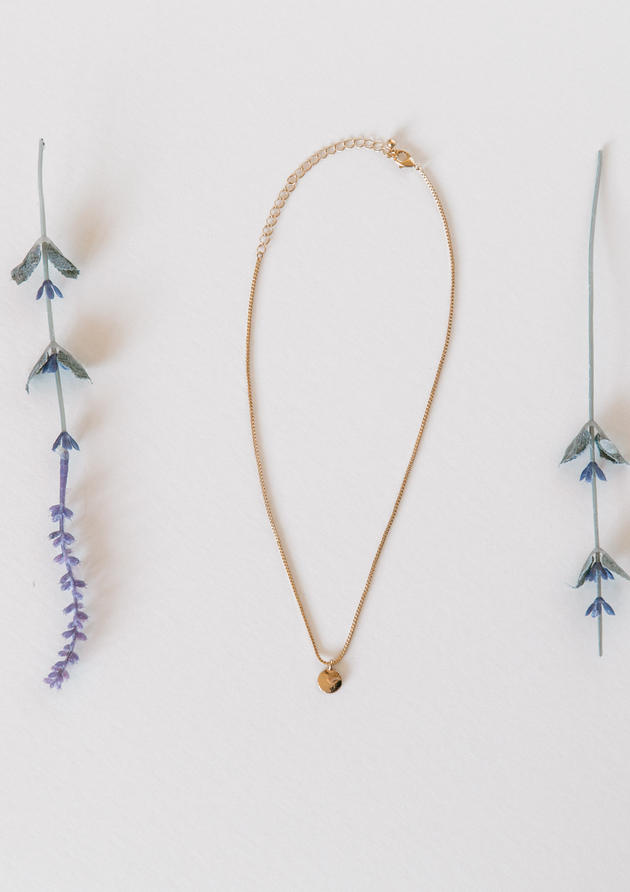 Necklace Flat Lay