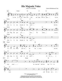 Songs of Scripture - Job 37 1-5 His Maje