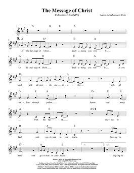 Songs of Scripture - Colossians 3 16 (NI